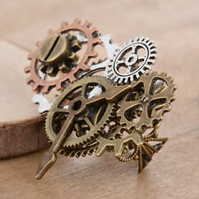 Vintage Men Steampunk Copper Watch Movement Gear Ring Band Gothic Handmade Gift