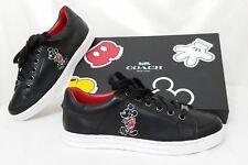 Coach X Disney Mickey Mouse Porter Sneaker Leather Shoe Black Q9146 Size 5 EU 35