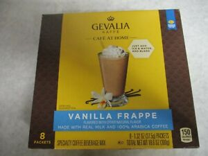 Gevalia Kaffee Vanilla Frappe - 100% Arabica Coffee 1 Box - 8 Packets per box