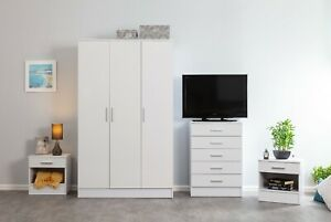 GLOSS 4 PIECE Bedroom Furniture Sets Wardrobe Chest Bedsides FREE DELIVERY