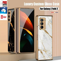 Luxury Tempered Glass PhoneCase For Samsung Galaxy Z Fold 2 Protective Hard Case