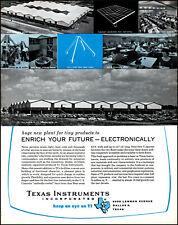 1958 Dallas Texas Instruments New Plant in Texas vintage photo print ad adl86