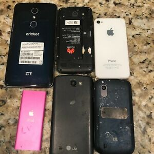Cell Phone Lot for Parts Only. Samsung LG iPhone iPod Blu ZTE