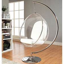 Eero Aarnio Standing hanging Bubble Chair With white or silver PU Cushion #3024