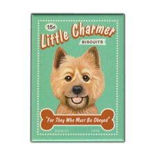 """Retro Pets Magnet, Little Charmer Biscuits, Cairn Terrier Dog, 2.5"""" x 3.5"""""""