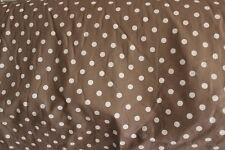 tissu toile coton marron taupe imprimé pois diamètre 13 mm en 150 cm de large