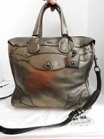 Coach Rhyder Bronze Leather Convertible Tote Crossbody Bag