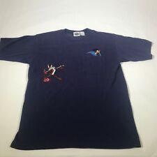 Vintage Looney Tunes Embroidered Shirt Small Mens Road Runner 1994 Wile E Coyote