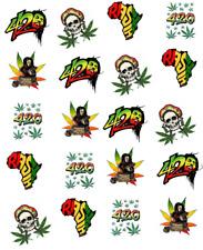 420 Bob Marley Pot Leaf Waterslide / Water Transfer Nail Decals/Nail art