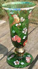 -Petit Vase de forme Médicis Art Deco Verre Emaillé