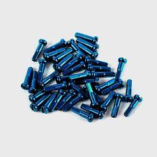 """Blue 14g 5/8"""" 16mm steel spoke nipples Bag of 75"""