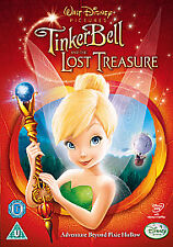 TINKERBELL AND THE LOST TREASURE DISNEY DVD - USED GOOD CONDTION READ DESC - UK