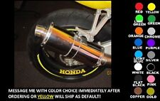 HONDA WHEEL / RIM DECALS, SET OF 2, ANY COLOR! cbr rr fireblade vfr 954 929 1000