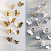 12x 3D Butterfly Wall Stickers Art Decals Home Decorations Decor Kids DIY