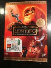 The Lion King (DVD 2003 2-Disc Platinum) Slip Cover Brand new Factory sealed