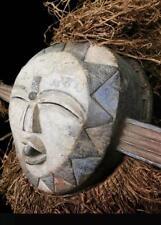 Antiguo Tribal Kwele Fetiche Máscara --- Gabón BN 10