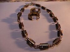 ralph lauren beautiful faux tortoise shell and gold tone necklace & earrings