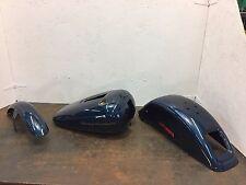 "2002 DEUCE FXSTD ""Luxury Blue""  Paint Set Gas Tank Fenders Harley Davidson"