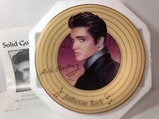 """Elvis Presley """"Jailhouse Rock """" Solid Gold Elvis Collection Plate, 1996 Bradford"""