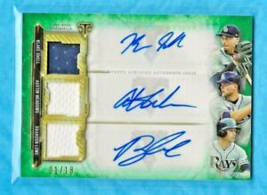 SNELL/MEADOWS/LOWE 2020 Topps Triple Threads Autograph Relic Combos Emerald 1/18