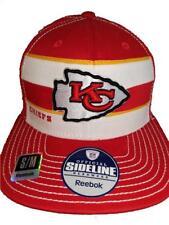 bfbf58652ad New Kansas City Chiefs Mens S M Reebok Fitmax Flatbrim Visor Flex Sideline  Hat