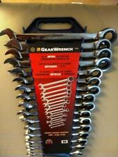 Gearwrench Ratcheting Wrench Set Swing Arc Metric 8 19 24 mm Combination 16 Pcs