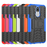Hybrid Armor Shockproof Rugged Rubber Kickstand Hard Case Cover for LG K40