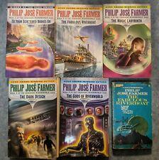 Philip Jose Farmer Riverworld Series 6 Books Classic Science Fiction - Free Ship