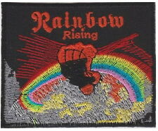 """RAINBOW Rising Rock Band Embroidered Iron On Sew On Patch Badge 3.2""""/8cm"""