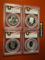 2014 W REVERSE PROOF SILVER KENNEDY 4 COIN PCGS PR70 MS70 PL 50TH ANN SET DC