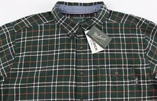 Men's WOOLRICH Green Plaid Flannel Cotton Shirt XL Extra Large NWT NEW
