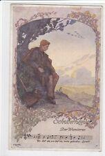 Kunst -Künstler Ak Elsner, SCHUBERT Lieder, Der Wanderer,  Franz Schubert,
