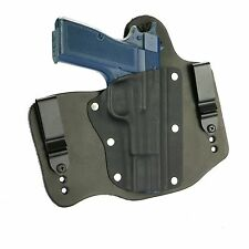 FoxX Holsters Leather & Kydex IWB Hybrid Holster Browning Hi-Power Black Right