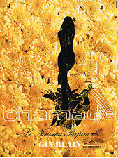 PUBLICITE ADVERTISING 064  1969  GUERLAIN parfum CHAMADE