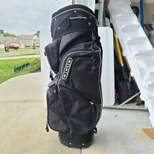 OGIO Cart Golf Bag 14 Way W/Rain Cover Black Excellent Used Condition