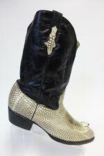 Genuine Python Black Snake Head Sz 11 D Men Cowboy Leather Cowboy Boots