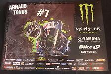 Poster Team Monster Energy Yamaha YZ250F 2012 #7 Arnaud Tonus (SUI) MX2 (HW)