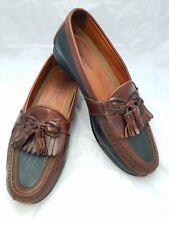 Johnston Murphy Passport Shoes Mens Kiltie Tassel Brown Leather Loafers US 9.5M