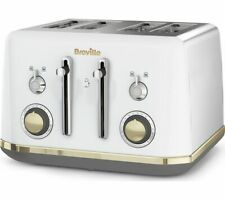 BREVILLE Mostra VTT937 4-Slice Toaster - White - Currys