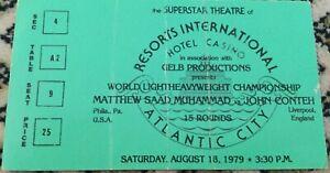 MATTHEW SAAD MUHAMMAD V JOHN CONTEH I-1979-WORLD LT HWC-TICKET-BOXING