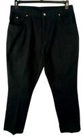Cherokee black denim stitched multi pockets women's straight leg jeans 20WA