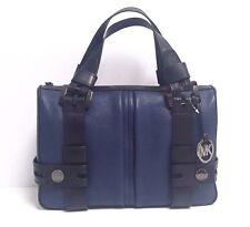 Michael Kors Harness Leather Grab Bag (Navy/Black)