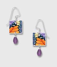 MONARCH Butterfly Wings Print EARRINGS by Lemon Tree STERLING  - Gift Boxed