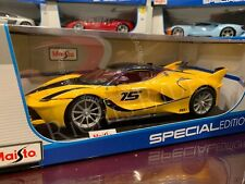 Maisto 1:18 Scale Special Edition Diecast Model Car - Ferrari FXX K (Yellow)