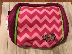 Bubble Bum Travel Booster Car Seat Foldable Portable Inflatable ~ Girls Pink
