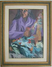 Saverio TERRUSO (Monreale 1939–Milano 2003) Processione verso il paese cm 50x60