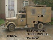 RAL7008 FARBE KHAKIGRAU GRAUGRÜN WEHRMACHT 1941 KDF SDKFZ LACK AFRIKA DAK 1kg