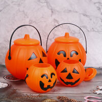Halloween Party Props Plastic Pumpkin Bucket Decorate Halloween DecorationUKA8A