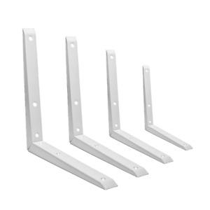 Strong Shelf Bracket WHITE Heavy Duty MITRE Shelving Metal Pair [2]