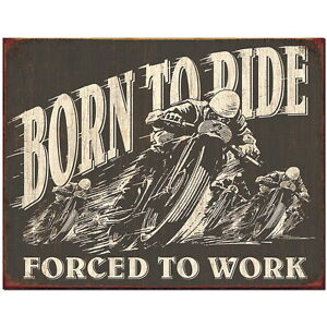 Born To Ride Large Metal Sign 400mm x 300mm (de)
